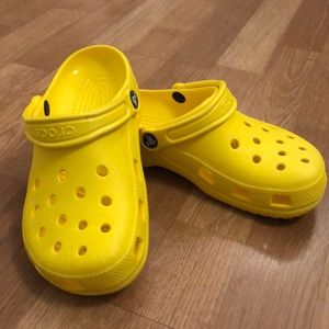Bright Yellow Crocs
